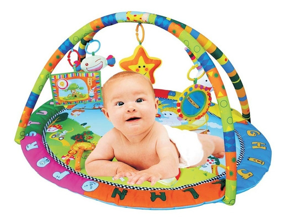 Tapete De Atividade Bosque Encantado Colorido Bebês Dican