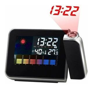 Reloj Proyector Alarma Temperatura Fecha Negro Calendario
