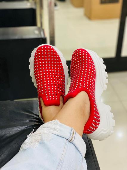 Tênis Feminino Sneaker Calce Facil Slip On Lançamento
