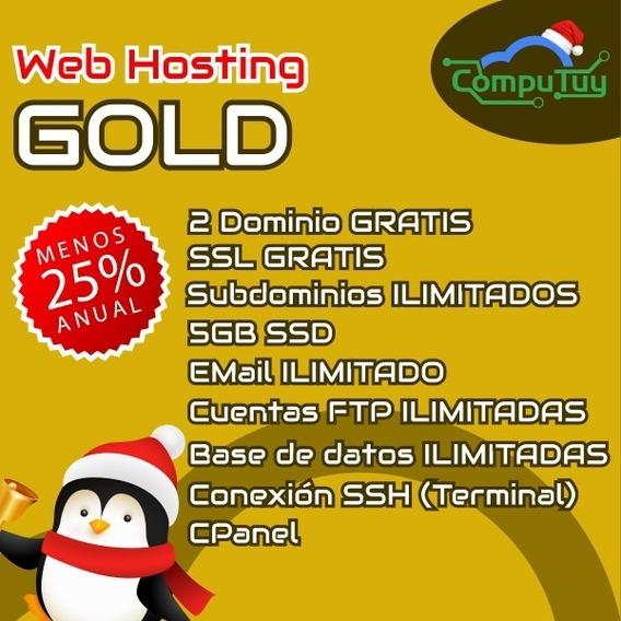 Web Hosting Con Cpanel Y Dominio (com.ve) Gratis 5gb Mensual