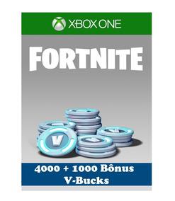 Fortnite - 4000 (+ 1000 De Bônus) V-bucks - Xbox One/pc