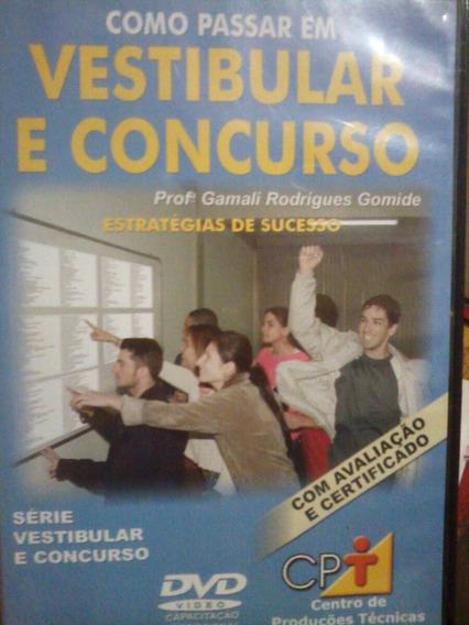 Como Passar Em Concursos. Dvd + Livro