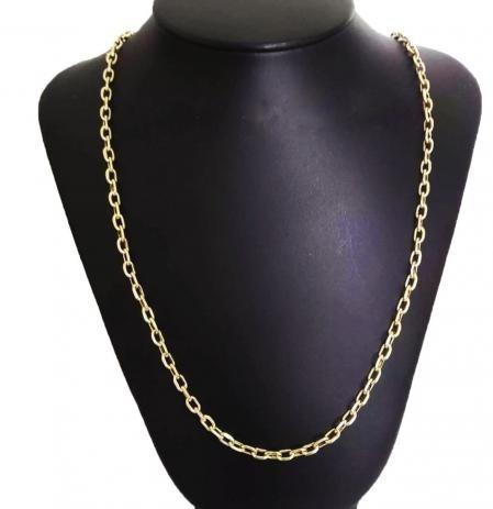 Cordão Corrente Cadeado Cartier Ouro Maciço 70cm 14,5 Gramas