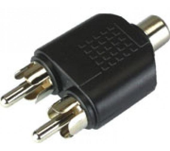 Adaptador Splitter Duplicador Rca 1 Fêmea X 2 Plug Macho