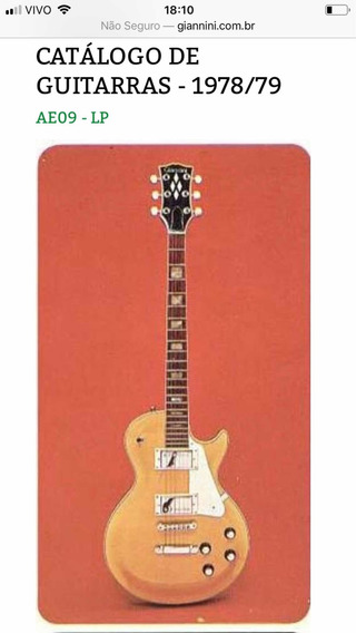 Guitarra Gianinni Les Paul 1978/79 Série Diamond Fretegratis