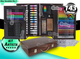 Kit Dibujo Arte Pintura Oleo Pasteles Colores Acrilico Set E