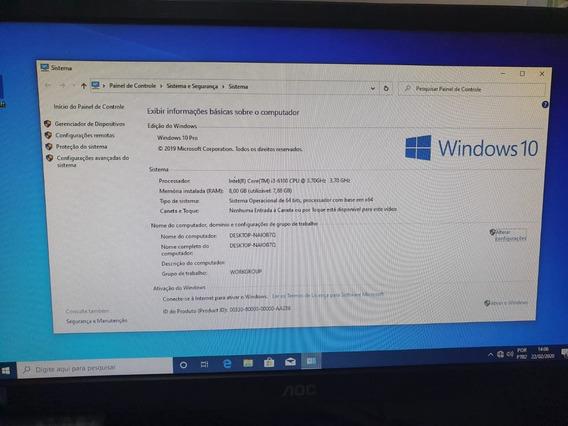 Computador I3, 6100 6º Geração, 8gb Ddr3 Corsar Vengeance