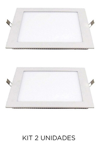 Imagen 1 de 3 de Spot De Embutir Cuadrado En Blanco, 12w Cálido - Ixec Ix2037