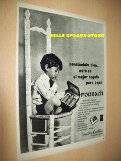 Clipping Antigua Publicidad Set Perfumeria Forbach Año 1970