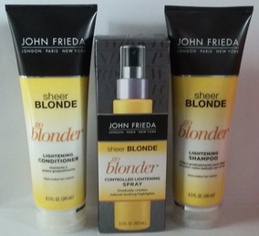 Kit John Frieda Go Blonder (shampoo+cond+spray Clareador)
