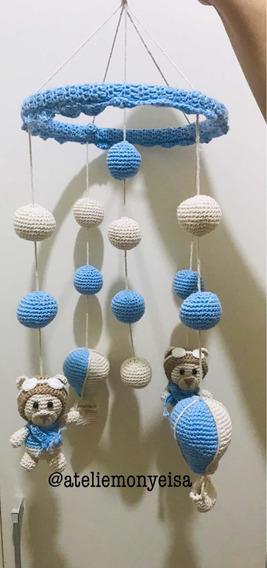 Móbile De Crochê Ursinhos E Balões