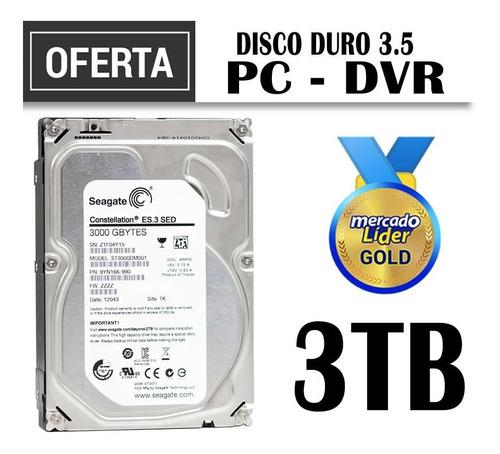 Disco Duro 3.5 3tb, Teras Segate Pc, Dvr Precio Inc Iva