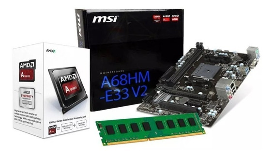 Kit Upgrade Amd A4 6300 3.7 Ghz, Placa Msi A68hm-e33, 4gb