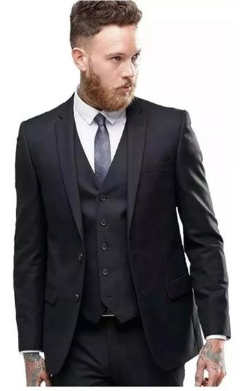 Blazer Masculino Slim + Camisa + Colete Social Frete Grátis