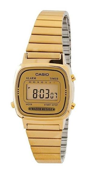 Reloj Casio Vintage Digital La670wga-9 Dama Original E-watch