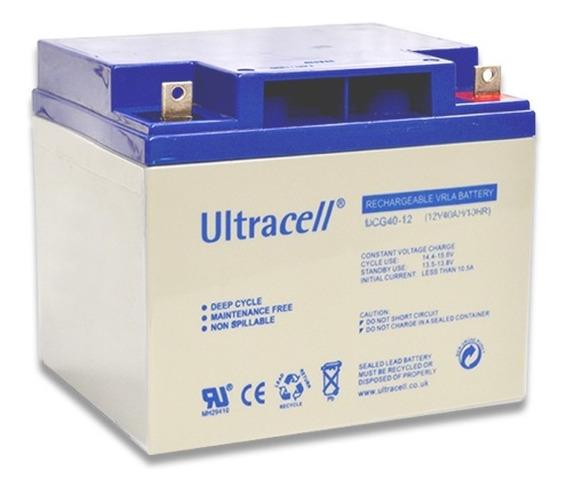 Bateria 12v 40ah Gel Ultracell Solar Ups Ciclo Profundo Deep