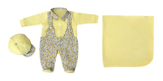 Kit Saída Maternidade Balila De Menino Amarelo