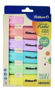 Resaltadores De Colores Pastel Pelikan Pague 5 Lleve 6