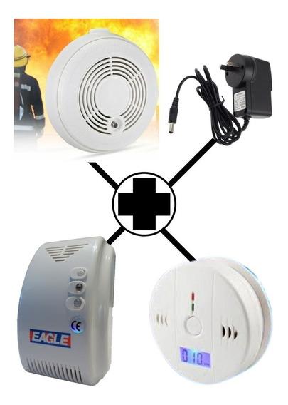 Kit Alarma Sonora Detector Monoxido+detector Humo+detector Gas Envío Gratis Pilar Garantía