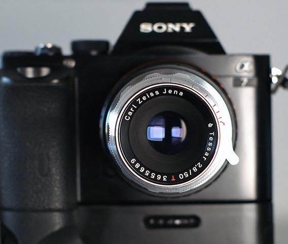 Lente Zeiss Tessar 50mm F2.8\14 Blade (rara) + Adapt. Sony E