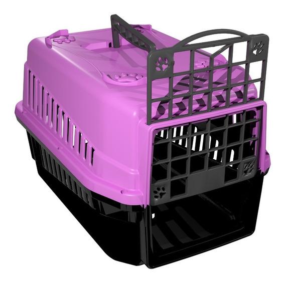 Caixa De Transporte N.1 Cão Cachorro Gato Pequena Lilas