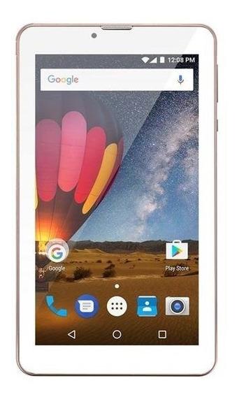 Tablet 7 Polegadas Rosa/azul M7 3g Plus Celular 2 Chips Novo