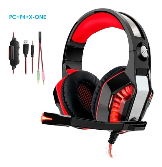 Headset Gamer Pc P4 X-one N-switch Celular P2 Knup