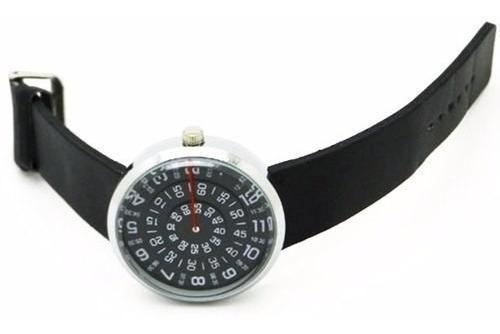 Relógio Estilizado Números Circulares Giram Hora Minuto
