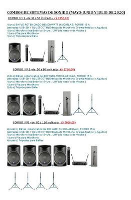 Alquiler Microfono Bafle Consola Proyector Luces Barracas