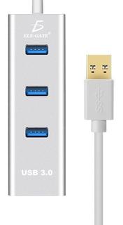 Adaptador Hub Usb 3.0 Ethernet Rj45 5 Gpbs 3 Puertos /e