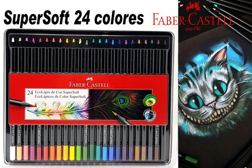 Faber Castell Lapices Color Supersoft Colores Intensos X24