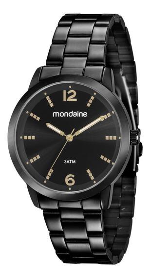 Relógio Mondaine Feminino Analógico Preto 53583lpmgpe4