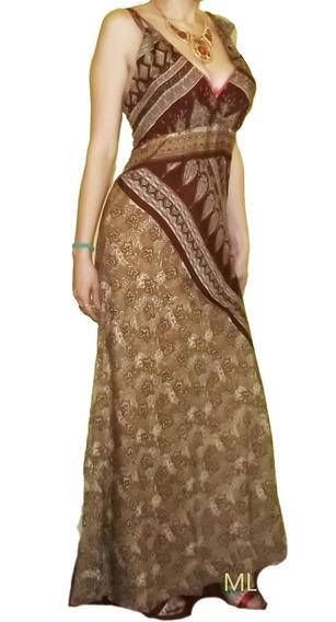 Elegante Bellos Vestido Hindú Largo Importado India Chic