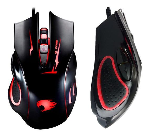 Mouse Para Jogo - Gamer, Preto