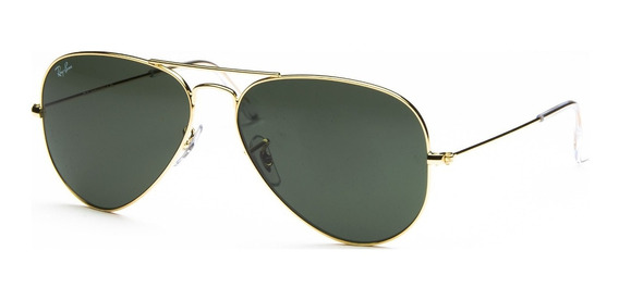 Lentes Ray Ban Aviador 100% Original Gold G-15 Rb3025 L0205