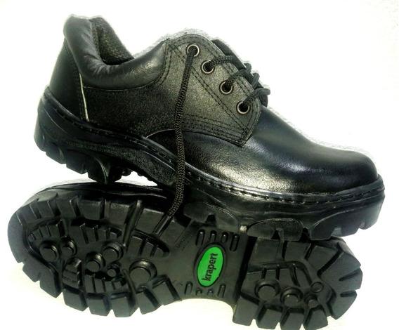 Zapato Trabajo Acero Cuero Suela Caucho Krapert Art 108 Ne
