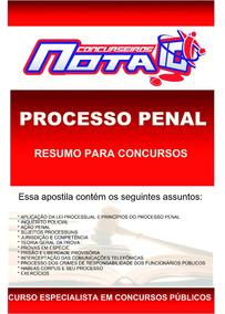 Apostila Processo Penal Para Concursos Públicos