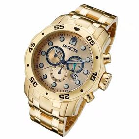 Relógio Invicta Pro Diver 0074 Ouro Gold 18k + Caixa.