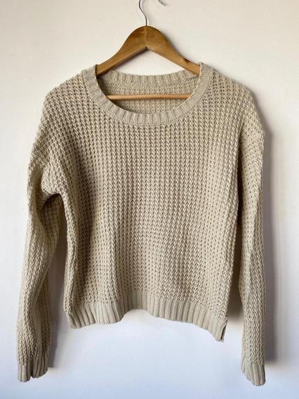 Sweater Dama Beige Talle 2 Abrigo