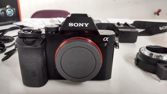 Sony A7 Com Adaptador P/ Lentes Canon -(vendo Sem Adaptador)
