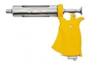 Pistola Veterinaria Seringa Dosadora Amarela Servi 50ml Aut S/ Acessorios