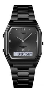 Reloj Feraud Acero Analogico Digital Vintage Sumergible
