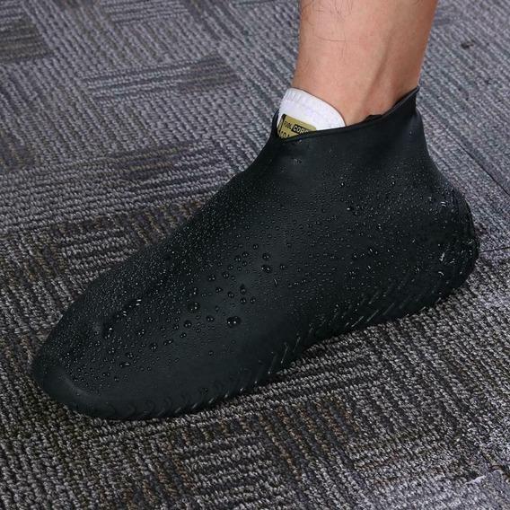 Cubre Calzado De Silicon Para Lluvia Cubre Zapato