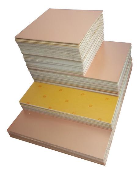 10 Placa Fenolite Dupla 10x10 + Percloreto + Verniz P/ Pci