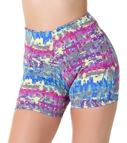 Kit 15 Shorts Feminino Cintura Alta Fitness Atacado