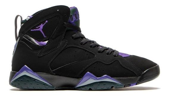 Tenis Jordan Air 7 Retro Black-purple Talla #28 Hombre Psd