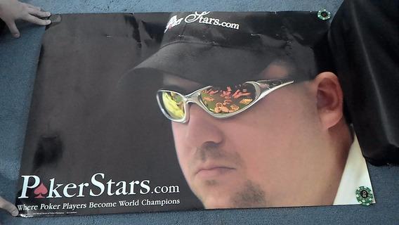 Poster 88x60 Cartaz Cris Moneymaker Pokerstars Poker Player