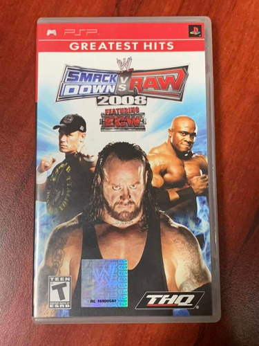 Imagen 1 de 3 de Smack Down Vs Raw 2008.    Original Psp
