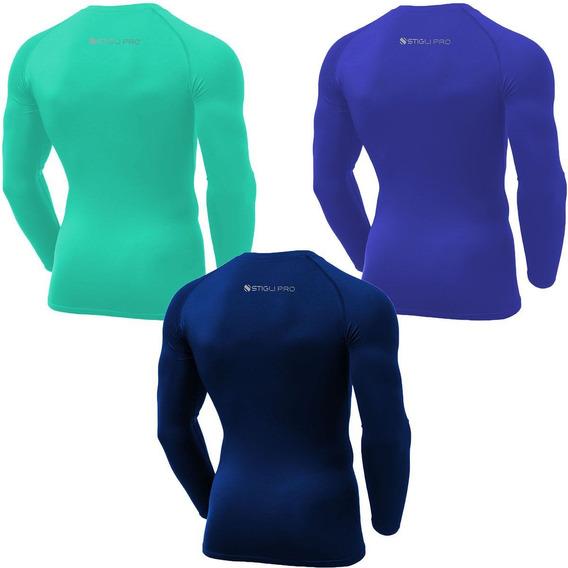 Kit 3 Camisas De Compressão Térmica Stigli Pro Segunda Pele