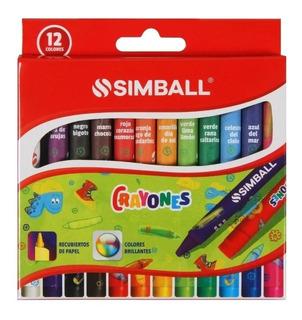 Crayones De Cera Finos Simball X 12 8122